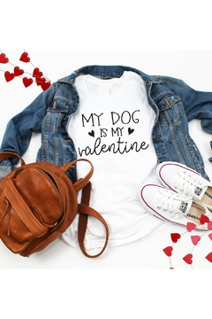 Top Crate Tees Dog Valentine Graphic Tee - Alternate List Image