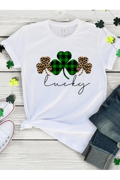Top Crate Tees Lucky Clovers Graphic Tee - Alternate List Image