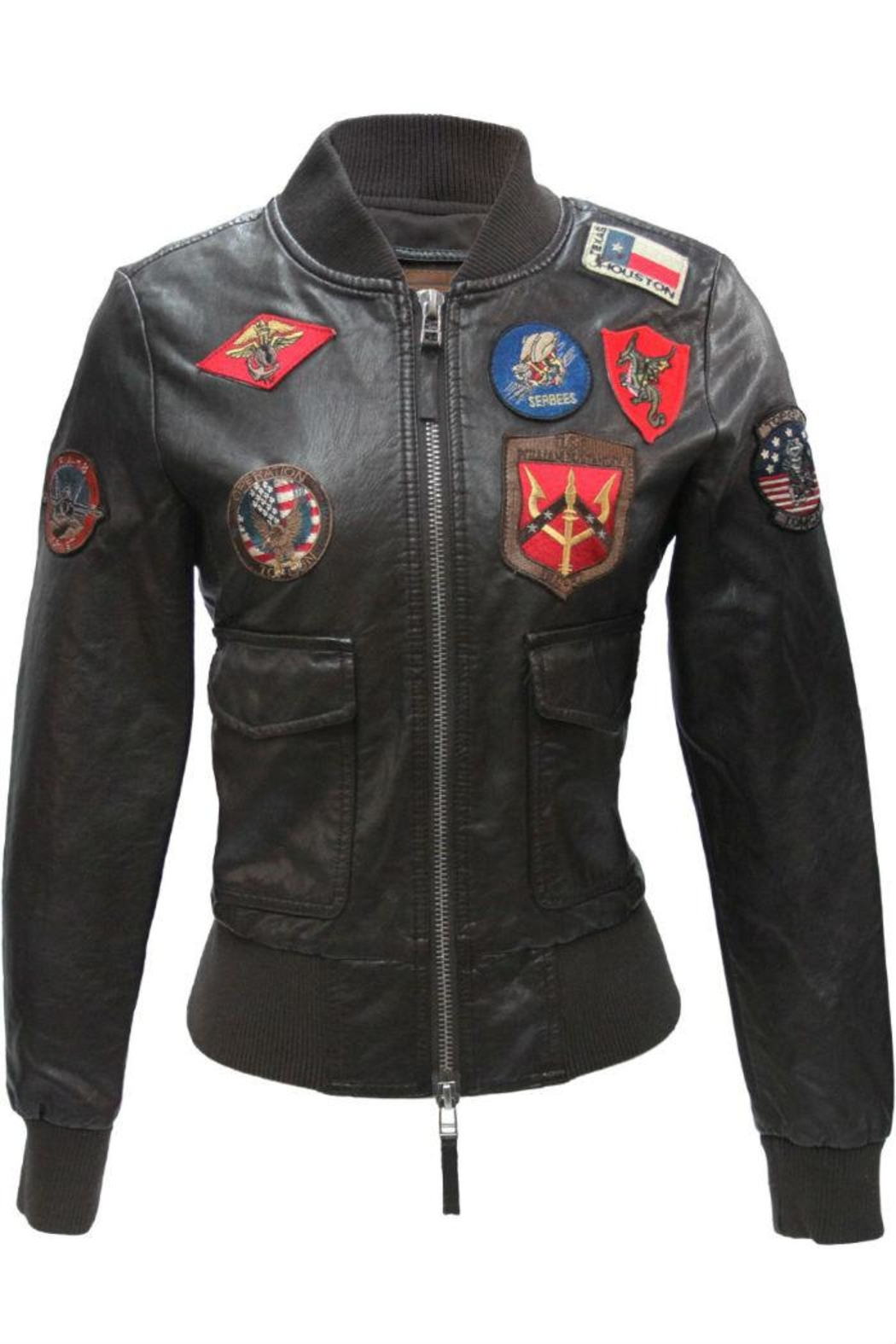 Top Gun Vegan Leather Jacket - Main Image
