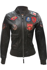 Top Gun Vegan Leather Jacket - Front cropped