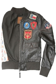 Top Gun Vegan Leather Jacket - Other