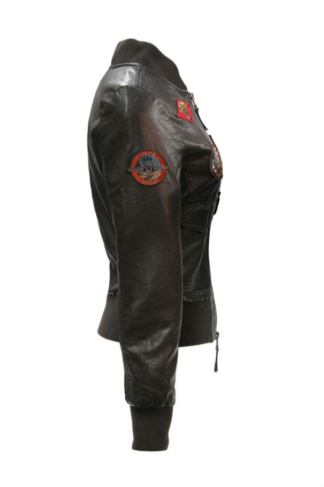 Top Gun Vegan Leather Jacket - Side Cropped Image
