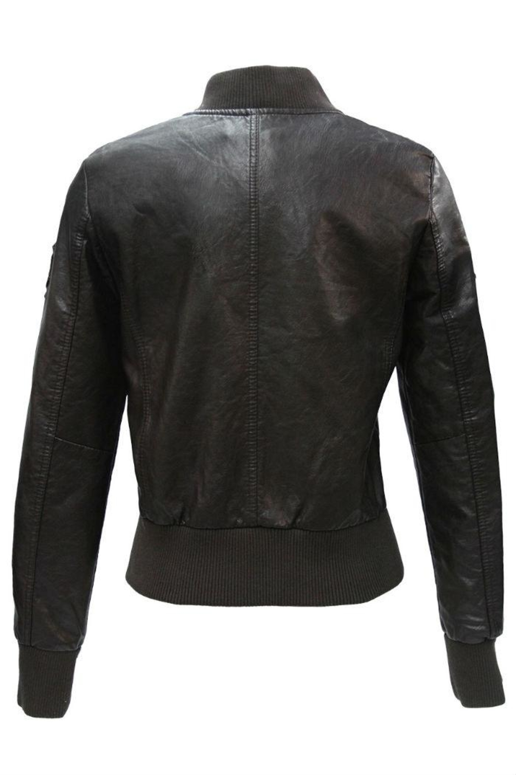 Top Gun Vegan Leather Jacket - Front Full Image