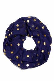Top if off Navy Infinity Scarf - Product Mini Image