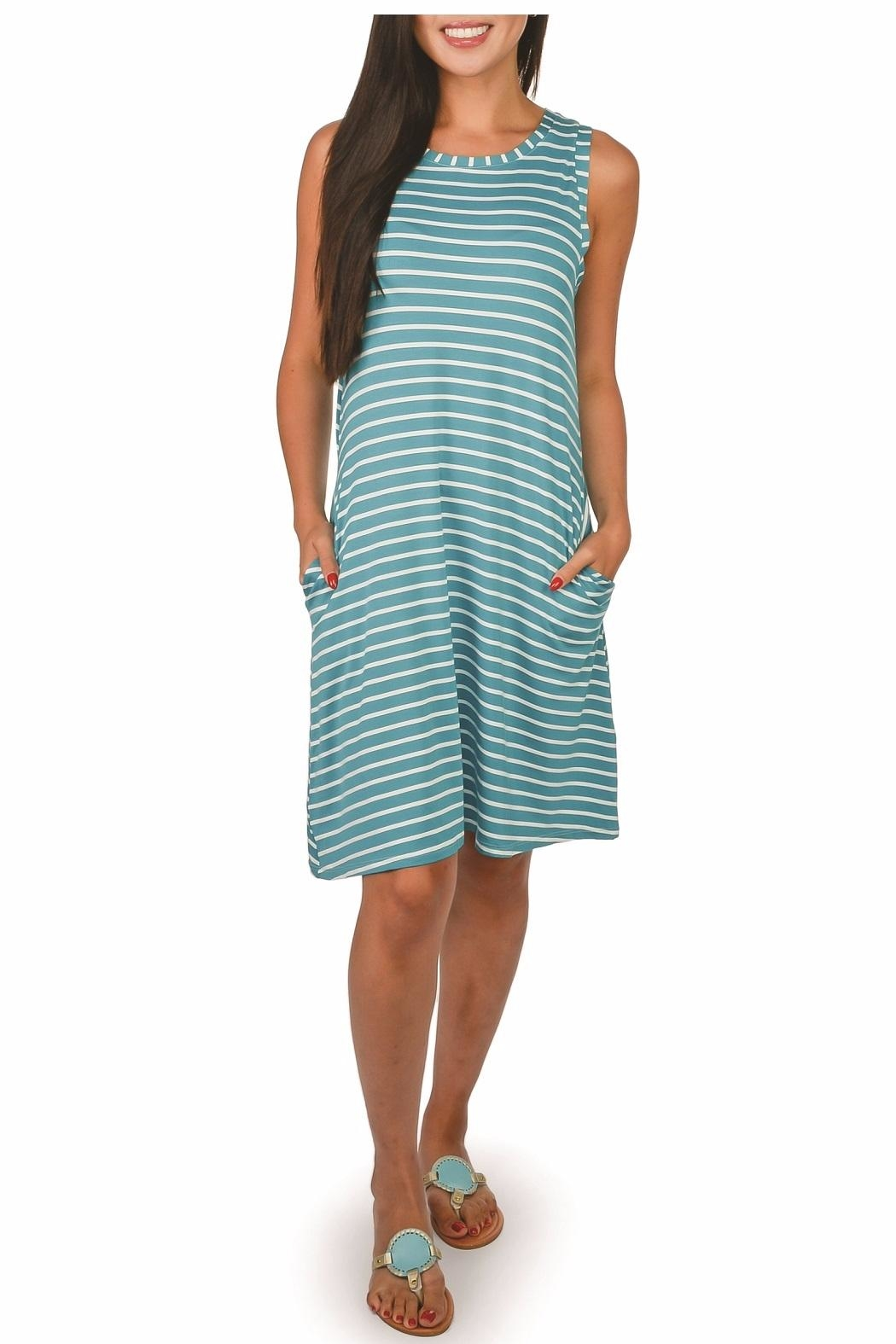 Top It Off Bella Striped Dress - Front Cropped Image