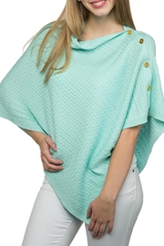 Top It Off Cable Button Poncho - Front cropped