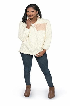 Top It Off Faux Shearling Pullover - Alternate List Image