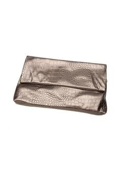 Top It Off Pewter Metallic Clutch - Alternate List Image