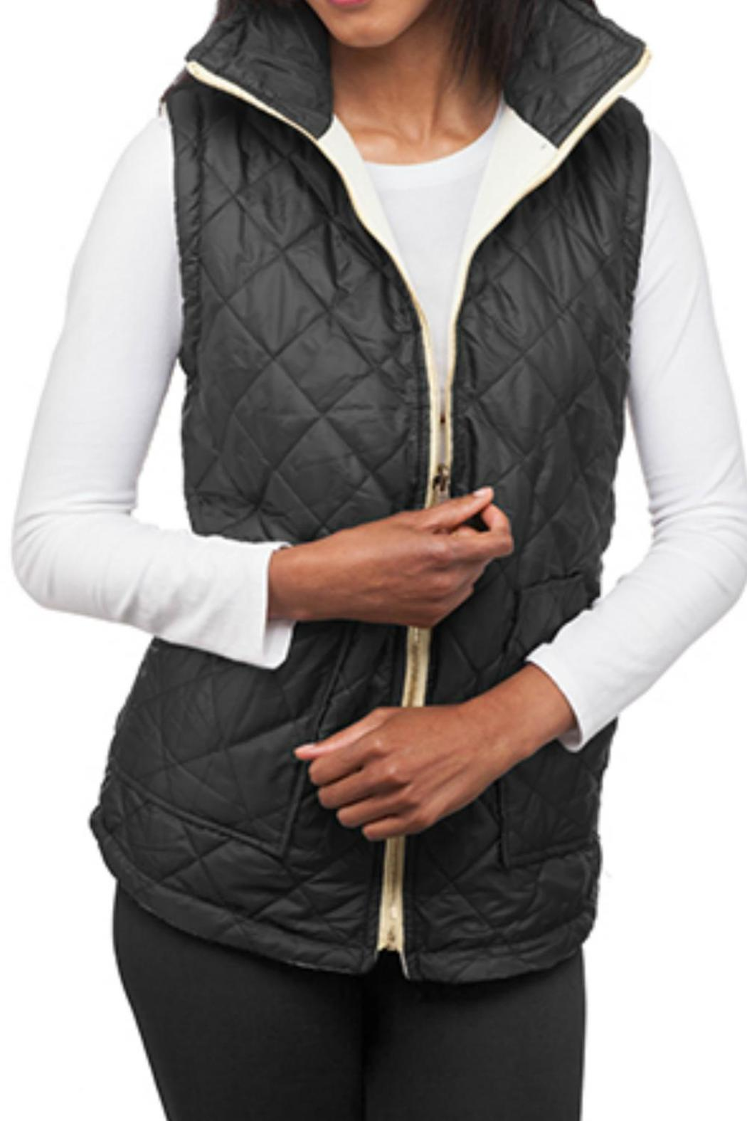 Top It Off Reversible Quilted Vest - Main Image