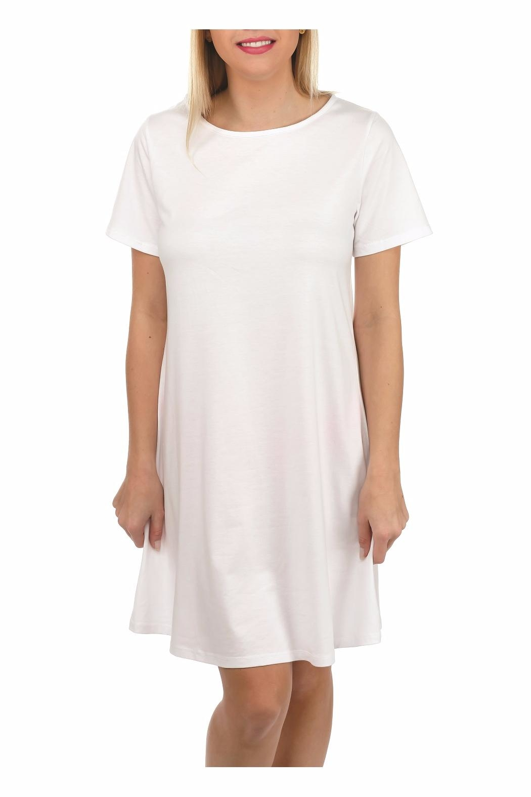 Top It Off Solid T-Shirt Dress - Main Image