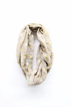 Top It Off Taupe Dot Infinity Scarf - Alternate List Image