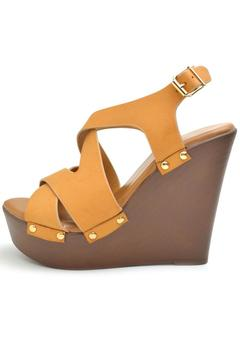 Top Moda Camel Permit Wedge - Product List Image