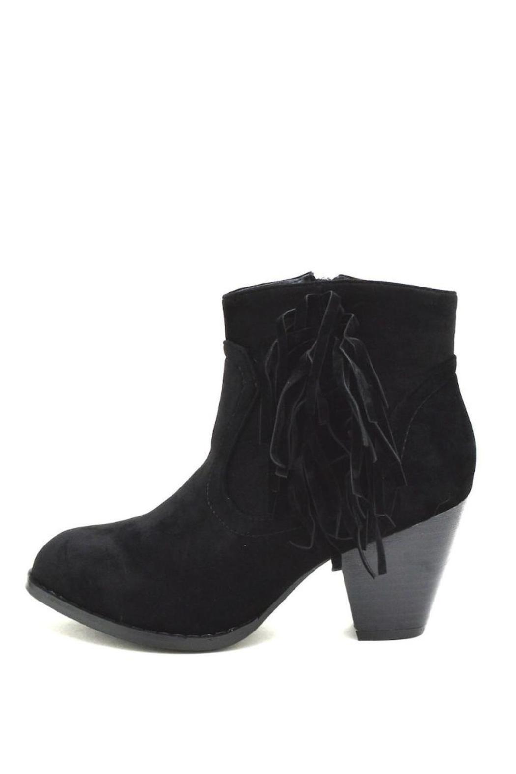 Top Moda Fringe Ankle Booties - Front Cropped Image