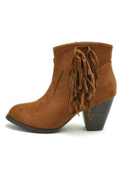 Top Moda Fringe Ankle Booties - Product List Image