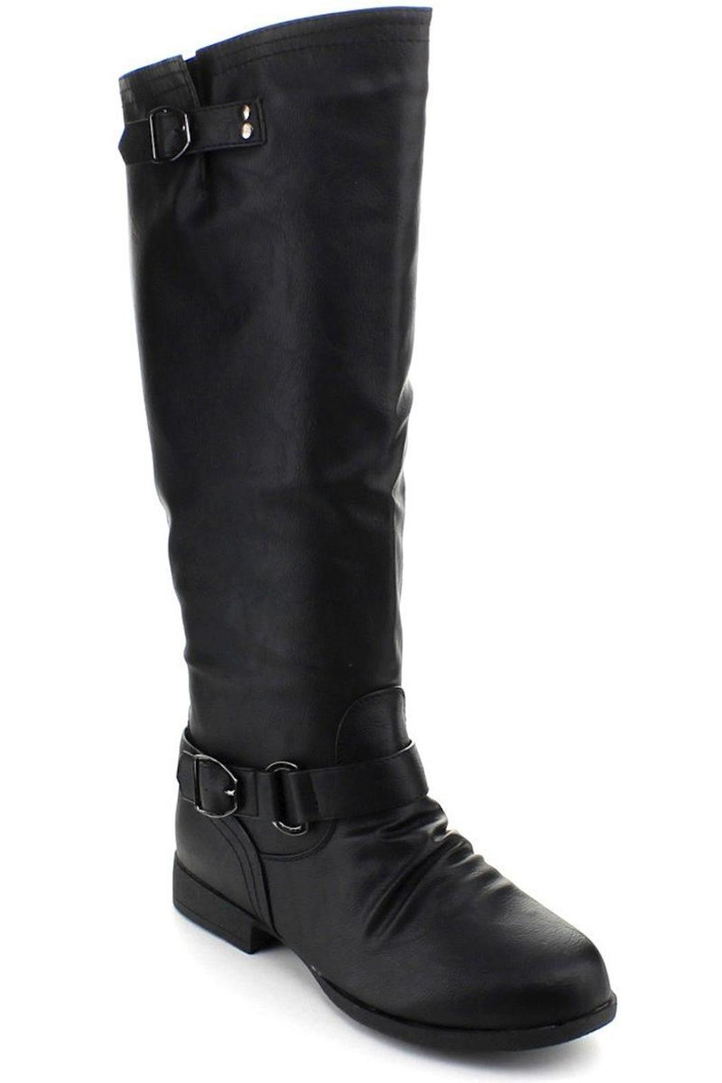 Top Moda Knee-High Riding Boots - Front Full Image