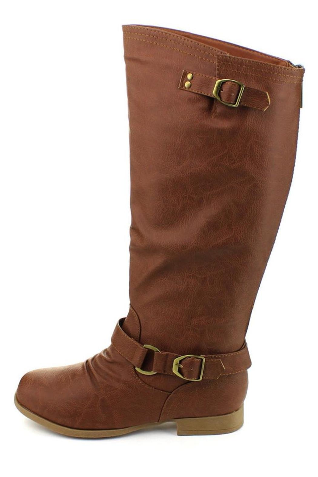Top Moda Knee-High Riding Boots - Front Cropped Image