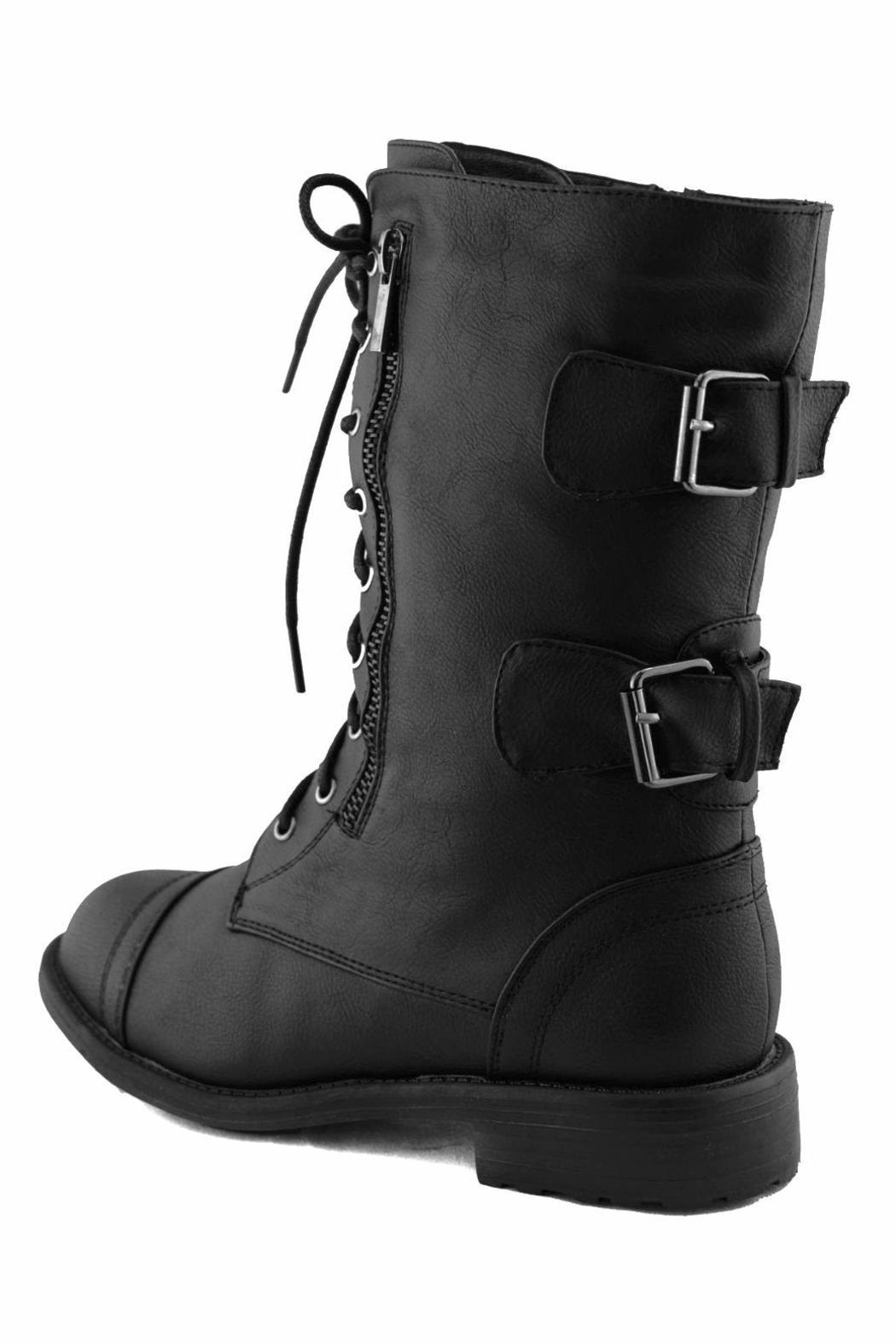 Top Moda Lace-Up Ankle Boots - Front Full Image