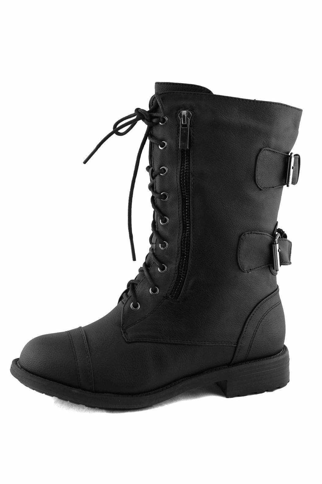 Top Moda Lace-Up Ankle Boots - Main Image