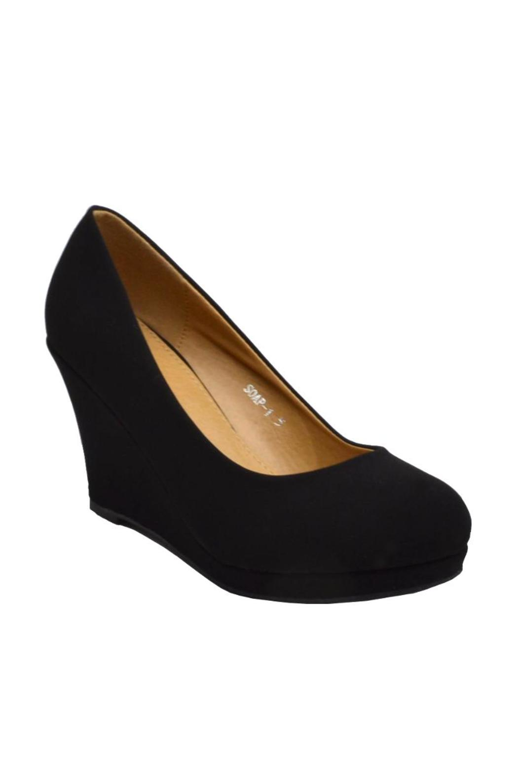 Top Moda Round Platform Wedge - Front Full Image