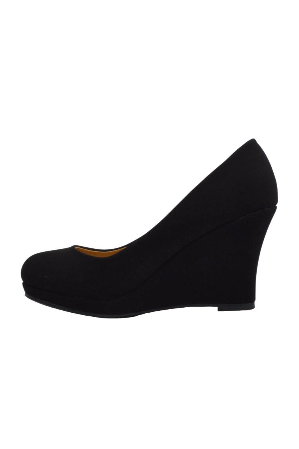 Top Moda Round Platform Wedge - Main Image