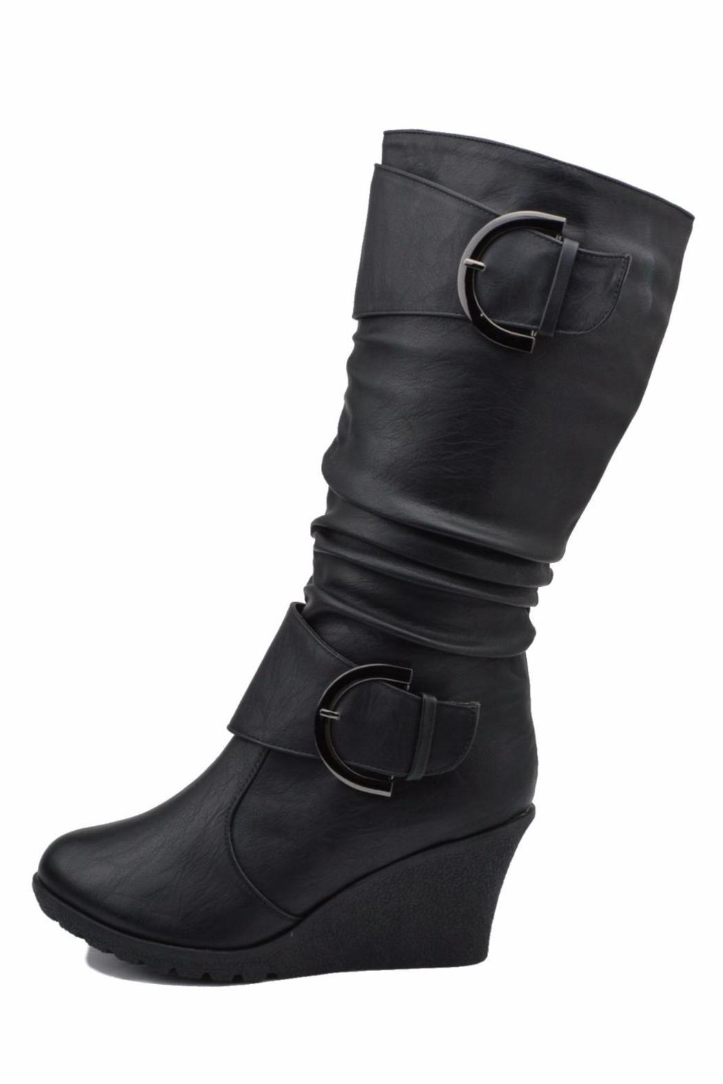Top Moda Slouched Wedge Boots - Main Image