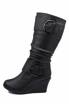 Shoptiques Product: Slouched Wedge Boots