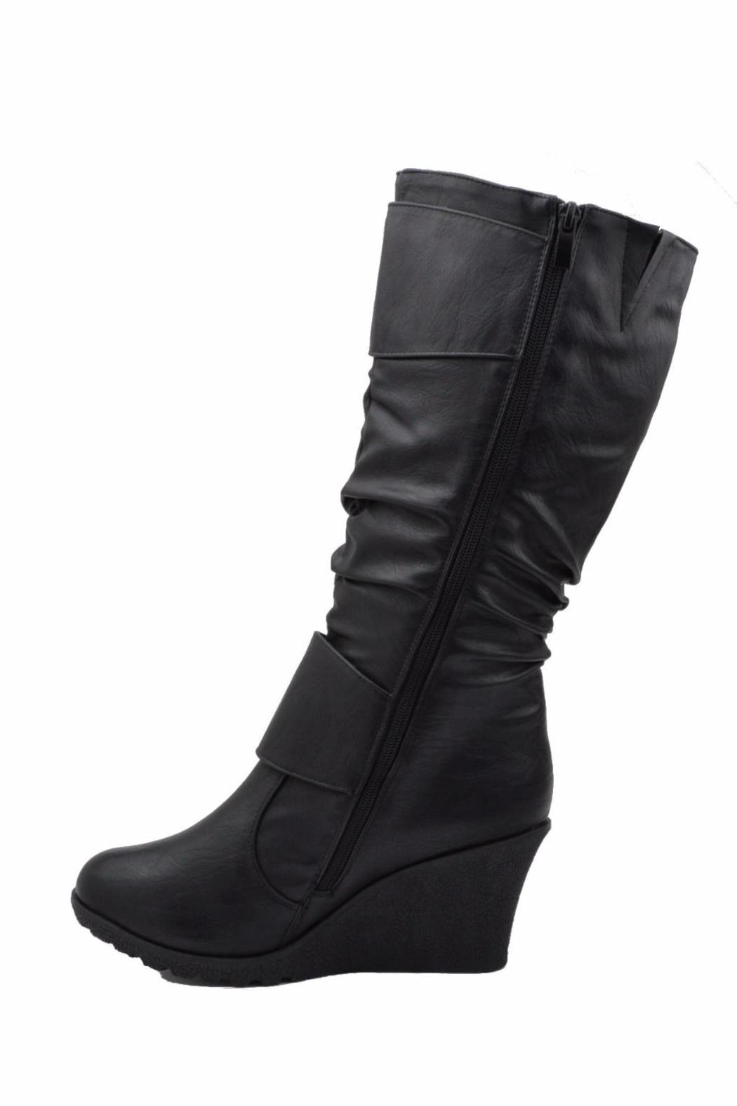 Top Moda Slouched Wedge Boots - Side Cropped Image