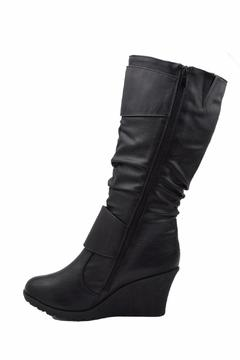 Top Moda Slouched Wedge Boots - Alternate List Image