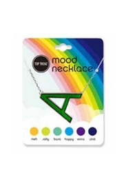 Top Trenz Initial Mood Changing Necklace - Front full body