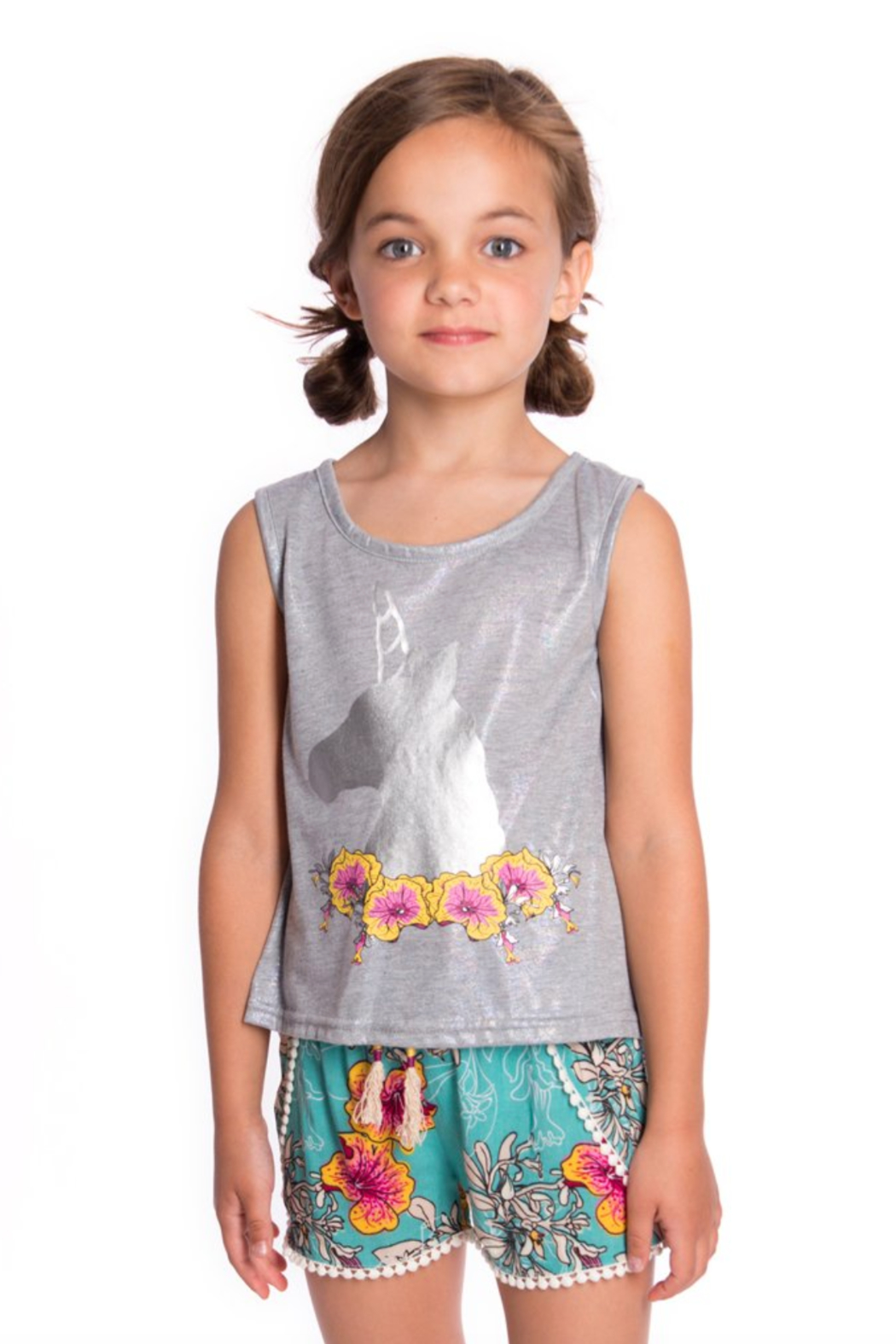 Appaman Topanga Unicorn Flower Tank Top - Side Cropped Image