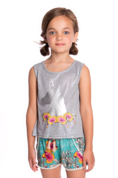 Appaman Topanga Unicorn Flower Tank Top - Alternate List Image