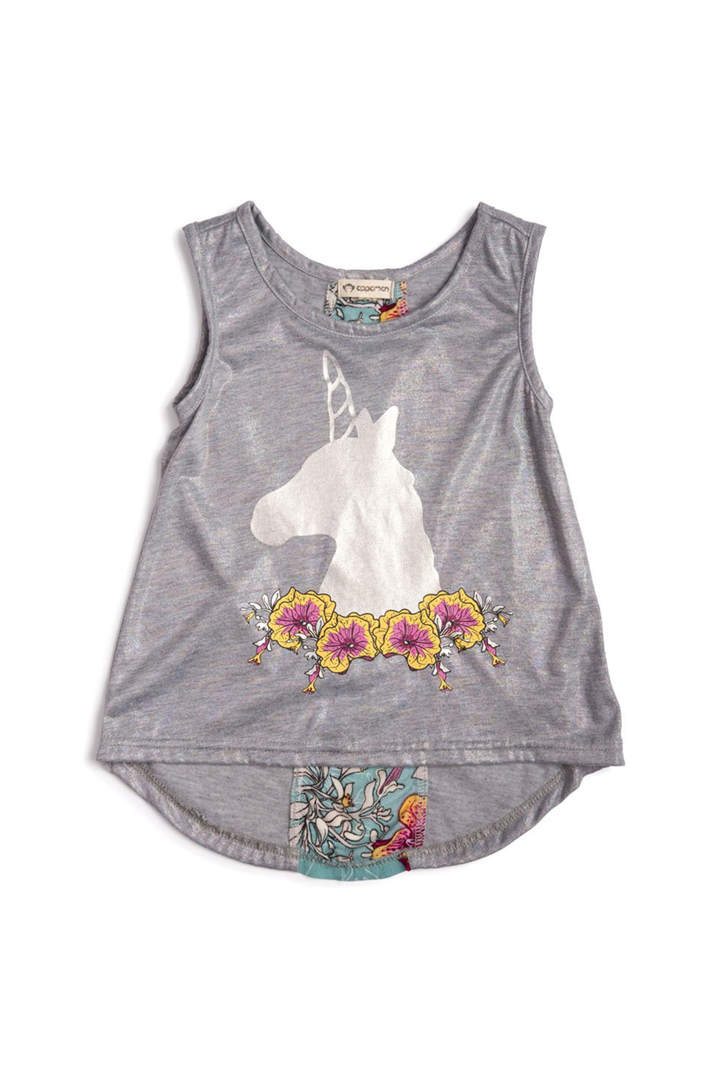 Appaman Topanga Unicorn Flower Tank Top - Main Image