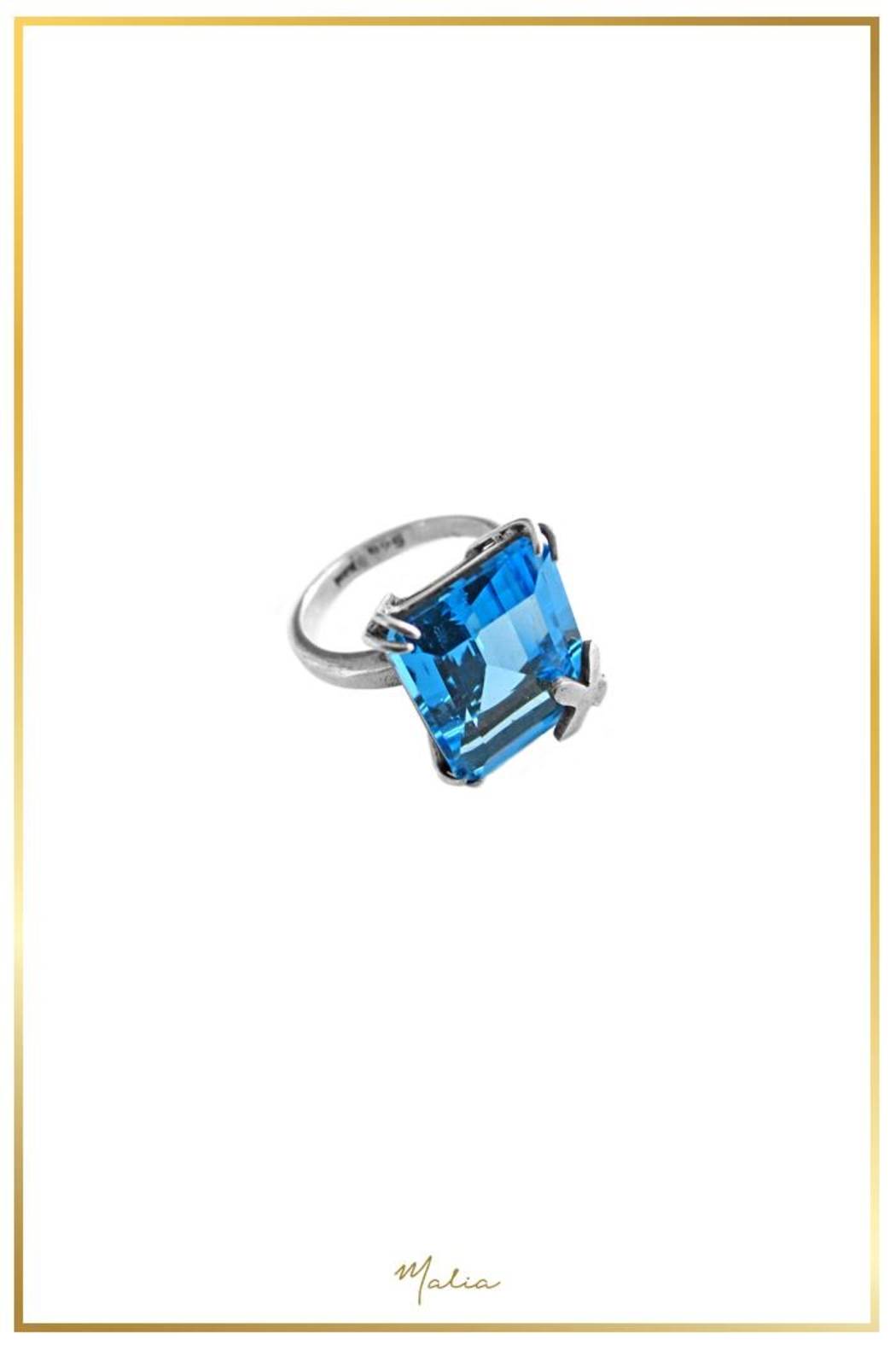 Malia Jewelry Topaz Silver Ring - Front Full Image