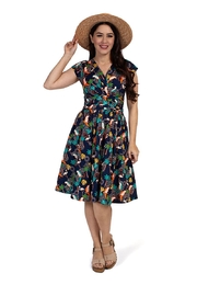 Retro Tiki Dress – Tropical, Hawaiian Dresses Topical Birds Greta-Dress $96.00 AT vintagedancer.com