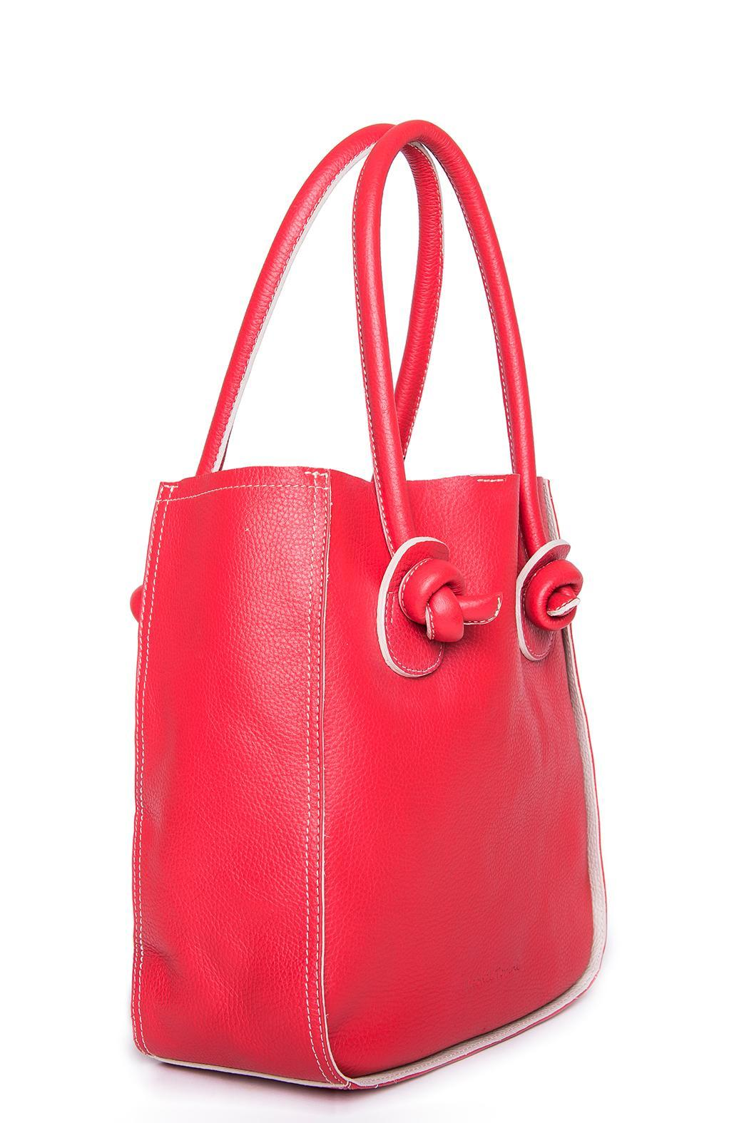 Torini Bags Red Florencia Tote - Front Full Image