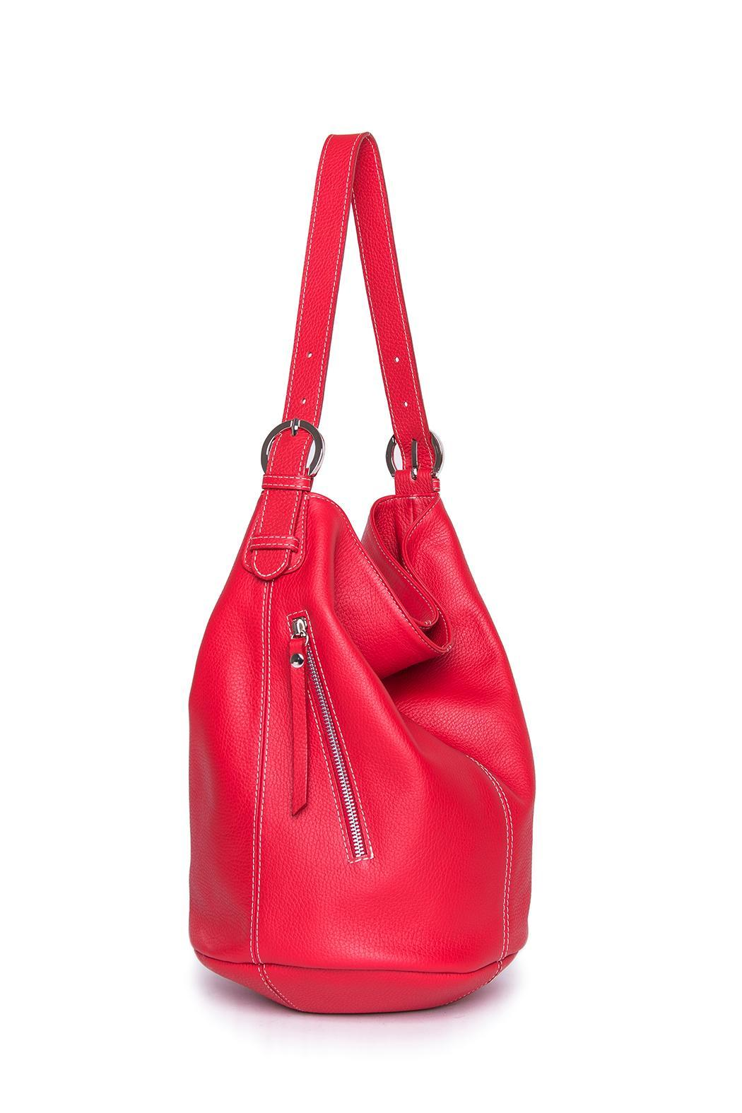 Torini Bags Red Sofia Bucket Bag - Main Image
