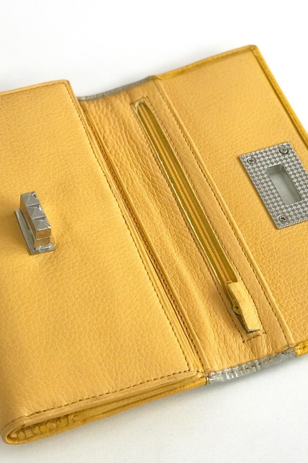 Torini Bags Yellow Leather Wallet - Side Cropped Image
