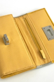 Torini Bags Yellow Leather Wallet - Side cropped