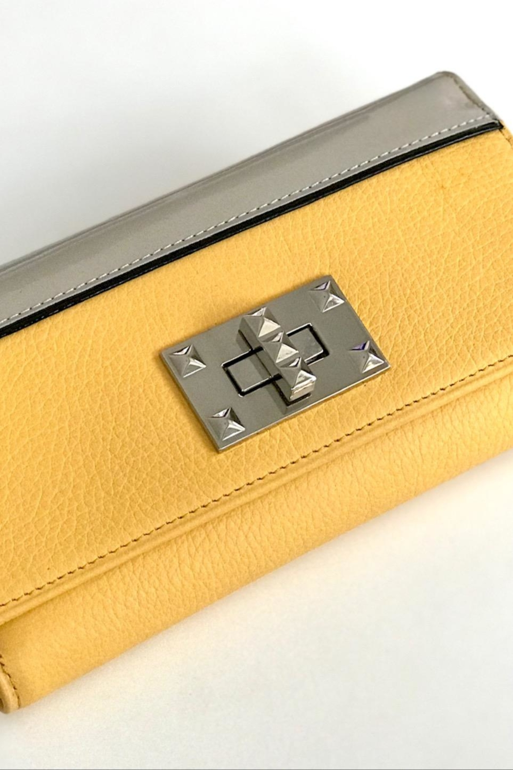 Torini Bags Yellow Leather Wallet - Front Full Image