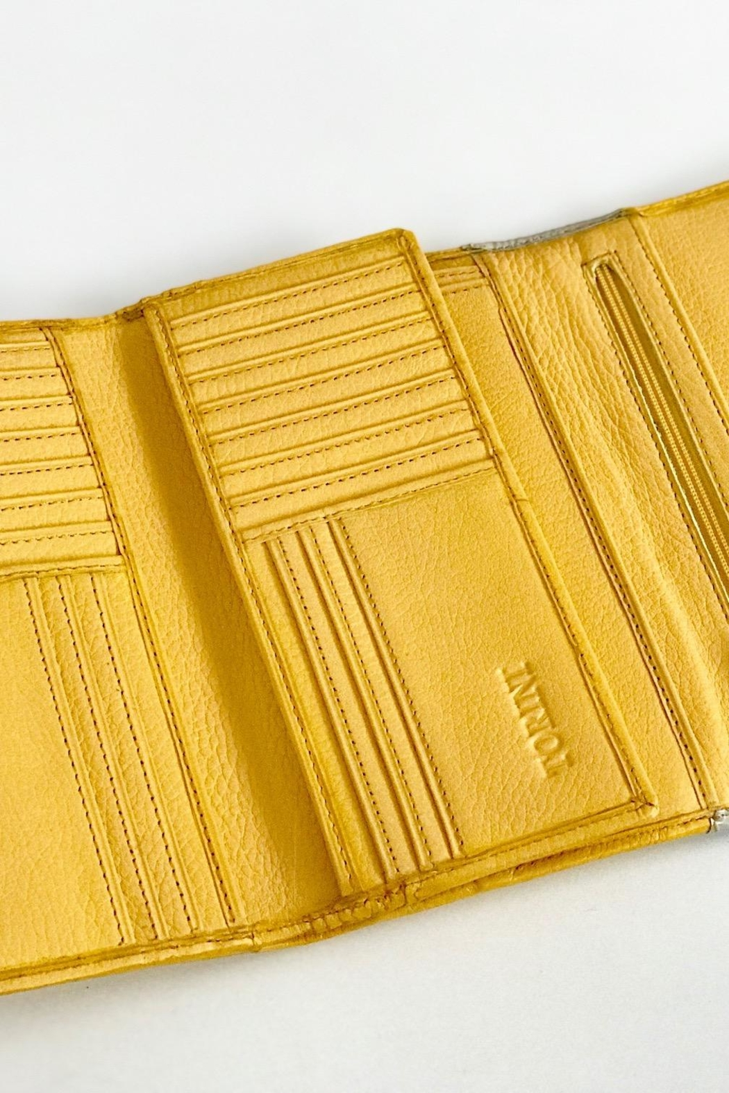 Torini Bags Yellow Leather Wallet - Back Cropped Image