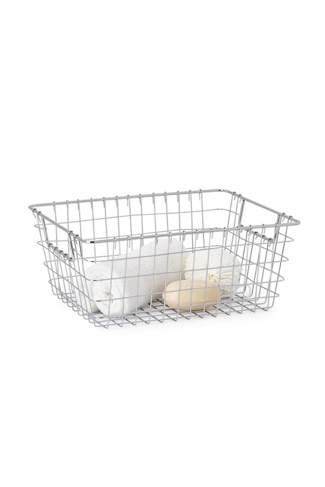 Torre & Tagus Chrome Wire Basket - Main Image