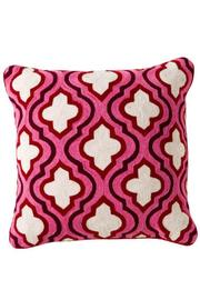 Torre & Tagus Crewel Embroidered Cushion - Product Mini Image