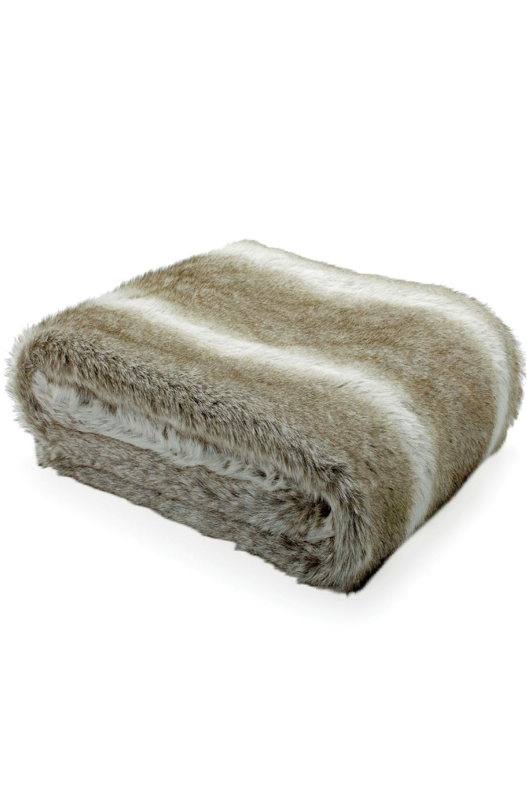Torre & Tagus Faux Fur Throw - Front Cropped Image