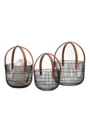 Torre & Tagus Leather-Handle Wire Baskets - Product Mini Image
