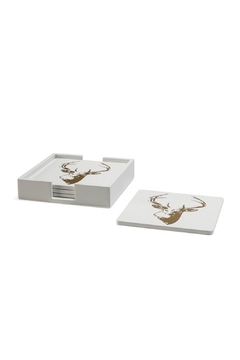Shoptiques Product: Stag Motif Coasters