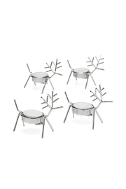 Torre & Tagus Stag Tealight Holders - Front cropped