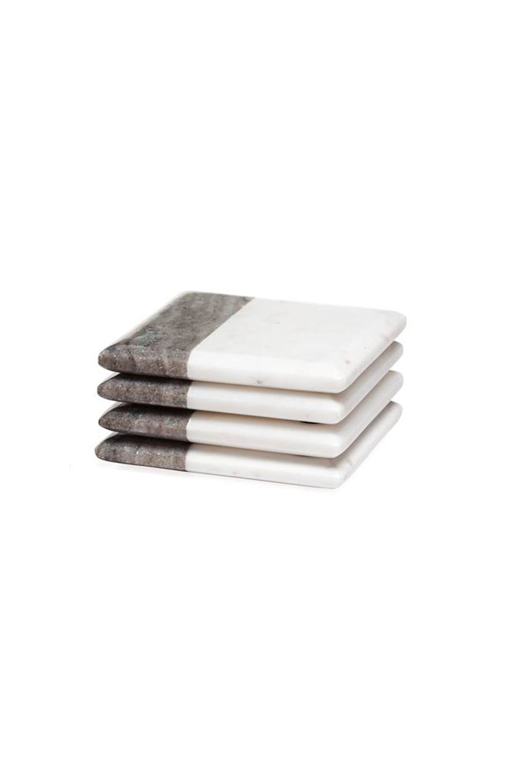 Torre & Tagus Two-Tone Marble Coasters - Main Image