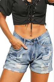 Shiying Fashion Torrence Distressed Jean Shorts - Product Mini Image