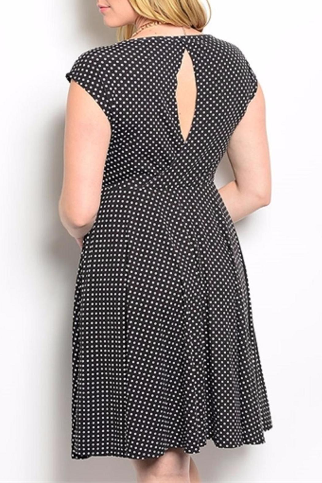 Torrid Black Polkadot Plus - Side Cropped Image