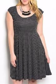 Torrid Black Polkadot Plus - Front cropped